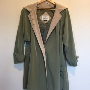 Vintage Large Women's Coat with Hood